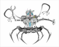Fantasy, robot, terminator vector illustration