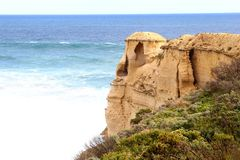 Fantasy rock arts along the Great Ocean Road, Australia Royalty Free Stock Images