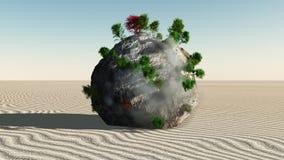 Fantasy Rock Island Stock Photography