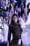 Fantasy rogue girl. 3D render illustration Stock Photos