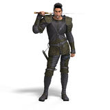 Fantasy Rogue with Sword Stock Image