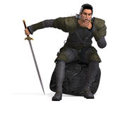 Fantasy Rogue with Sword Stock Photo