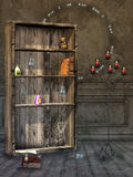 Fantasy room. With library witch and magic sings Royalty Free Stock Photography