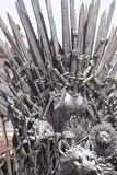 Fantasy, royal throne made of iron swords, seat of the king, sym Stock Images