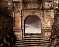Fantasy Ruins, 3D CG Stock Image
