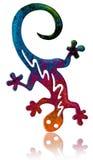 Fantasy salamander. Artistic version of a colorful salamander vector illustration