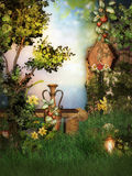 Fantasy scenario in the Garden Stock Images