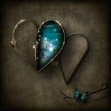 Fantasy scene heart locket Royalty Free Stock Photos