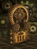 Fantasy scene with steam punk style Royalty Free Stock Images