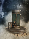 Fantasy scene with steam punk style Royalty Free Stock Photography
