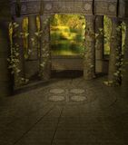 Fantasy scenery 03 royalty free illustration