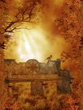 Fantasy scenery 89. Fantasy background for personal or commercial use Vector Illustration