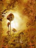 Fantasy scenery 90. Fantasy background for personal or commercial use stock illustration