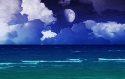 Fantasy sea night Royalty Free Stock Photos