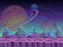 Fantasy seamless alien landscape Royalty Free Stock Photo