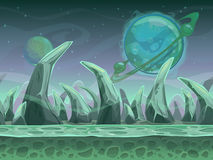 Fantasy seamless alien landscape Stock Images