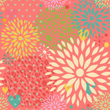 Fantasy seamless pattern with flowers Stock Image
