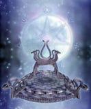Fantasy serpent throne Stock Photography