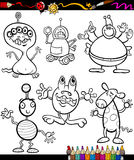 Fantasy set cartoon coloring book Royalty Free Stock Photo
