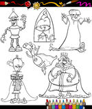 Fantasy set cartoon coloring book Stock Photos