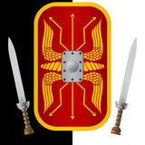 Fantasy shield and sword Royalty Free Stock Photography
