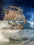 Fantasy ship Royalty Free Stock Photo
