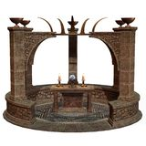 Fantasy shrine with altar Stock Photos