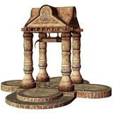 Fantasy shrine with columns Royalty Free Stock Images