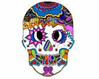 Fantasy skull on white background Stock Photo