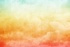 Fantasy sky and cloud with pastel gradient colo Stock Photography