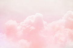 Fantasy sky and cloud with pastel gradient color Royalty Free Stock Image
