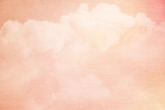 Fantasy sky and cloud with pastel gradient color. And grunge texture Stock Image