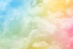 Fantasy sky and cloud with pastel gradient color Stock Image