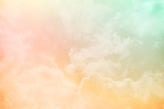 Fantasy sky and cloud with pastel gradient color Stock Images