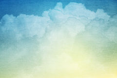 Fantasy sky and cloud with pastel gradient color Royalty Free Stock Photo