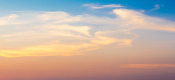 Fantasy sky. Soft blur fantasy sky in sunset and sunrise time Royalty Free Stock Photography