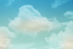 Fantasy soft cloud with pastel gradient color Stock Images
