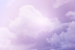 Fantasy soft cloud with pastel gradient color Royalty Free Stock Photo