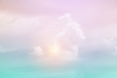 Fantasy soft cloud with pastel gradient color. Nature abstract background Royalty Free Stock Image