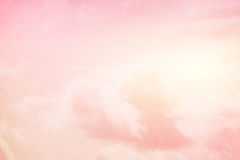 Fantasy soft cloud and sky with pastel gradient color Royalty Free Stock Image