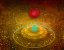 Fantasy space backgrounds Stock Images
