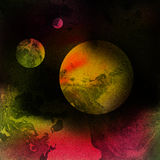 Fantasy space planet background Royalty Free Stock Images