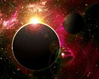 Fantasy space planets Stock Images