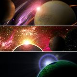 Fantasy space planets Stock Image
