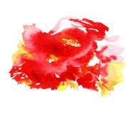 Fantasy Splash Of Red Watercolor stock photo
