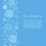 Fantasy starry border Royalty Free Stock Images