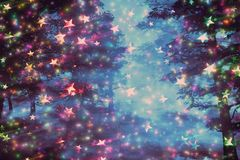 Free Fantasy Starry Forest Royalty Free Stock Photos - 126070678