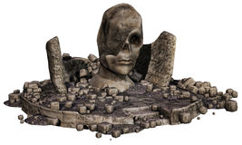 Fantasy stone head Stock Photos