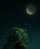 Fantasy stone in the mooon light Royalty Free Stock Photo