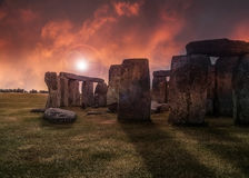 Fantasy Stonehenge Royalty Free Stock Photos
